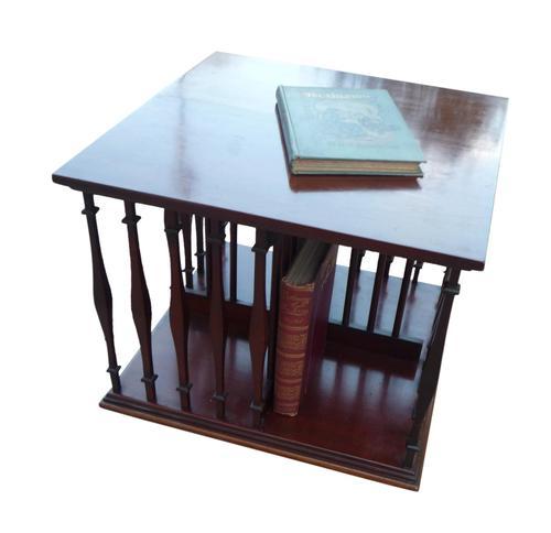 Edwardian Mahogany Table Top Revolving Bookcase (1 of 3)