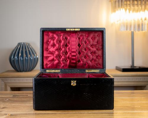 Large Leather Jewellery Box 1880 (1 of 9)
