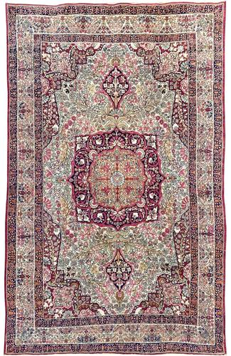 Antique Kerman Lavar Rug (1 of 11)