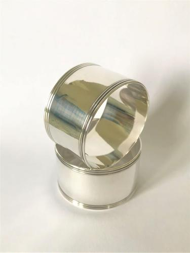 Handsome Pair of Art Deco Silver Plated Napkin Rings (1 of 3)