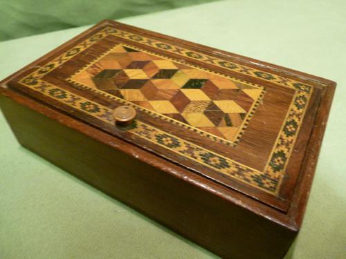 Genuine Tunbridge Ware Box. 100% Original. c1875 (1 of 9)