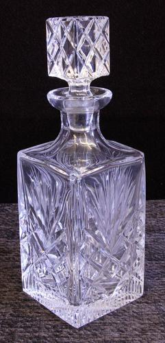 Cut Glass Square Decanter (1 of 7)