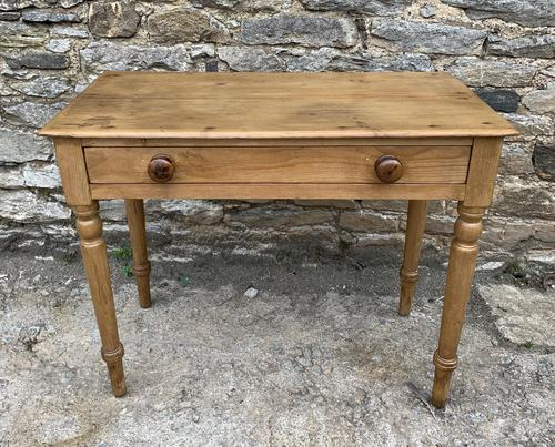 Antique Pine Side Table with Drawer (1 of 14)