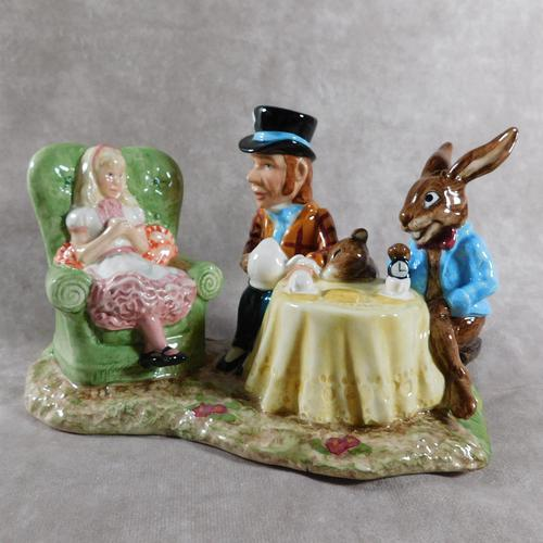 Royal Doulton, Beswick  Ware, Limited Edition, The Mad Hatter's Tea Party Tableau (1 of 12)