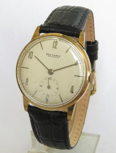 Gents 9ct gold Rotary wrist watch, 1967 (1 of 5)