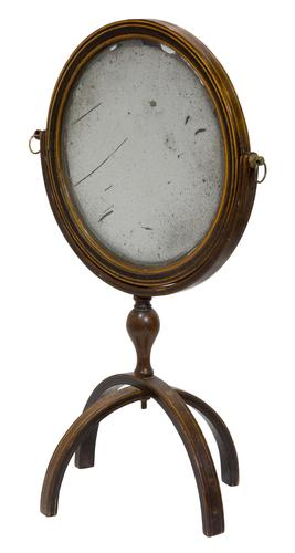 Rare Georgian Travelling Mirror (1 of 5)