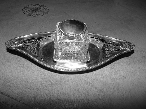 Edwardian Chester silver inkstand 1901 (1 of 8)
