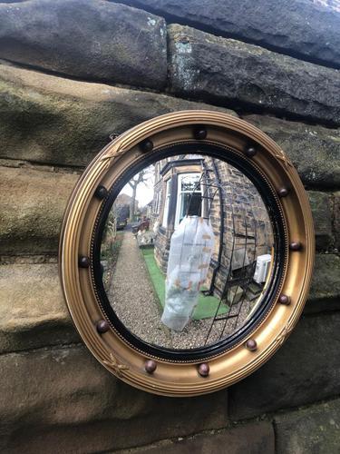 Antique Gilt Framed Convex Mirror (1 of 5)