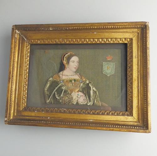 Queen of Scots Interest: an Extremely Rare Commemorative Tinsel Print Margaret Tudor 19thc (1 of 3)