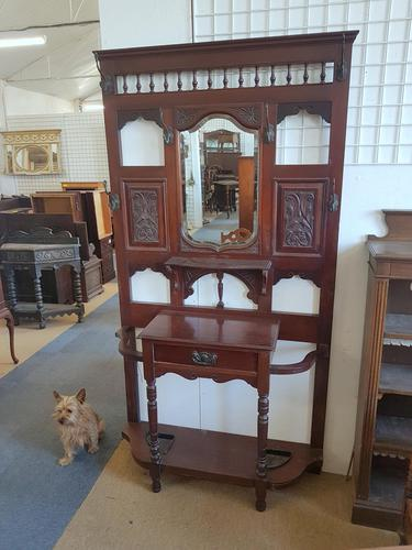 Edwardian Coat Hall Stand (1 of 5)