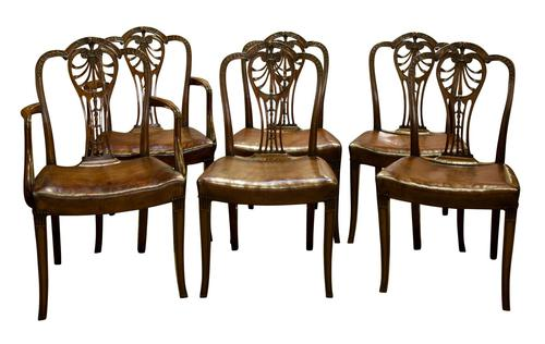 Set of 6 Chairs '4+2 Carvers' (1 of 6)