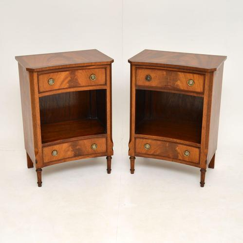 Pair of Antique Regency Style Mahogany Bedside Cabinets (1 of 10)