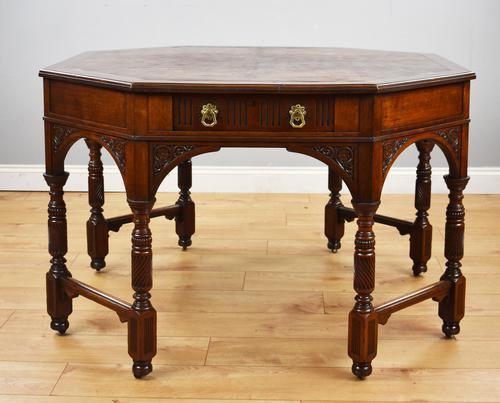Victorian Walnut Library Table (1 of 9)