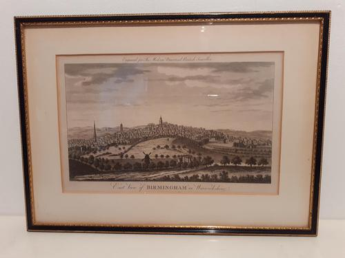 Copper Engraving, East  View of Birmingham, 1780 (1 of 5)
