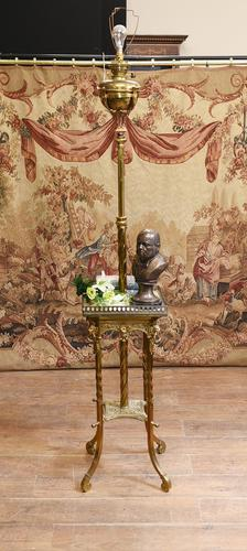 Antique Gilt French Floor Lamp Table (1 of 12)