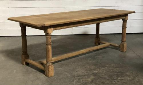 Bleached Oak Farmhouse Dining Table with Extensions (1 of 16)