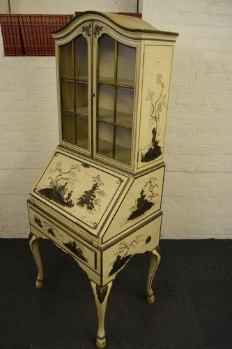 Lovely Antique Chinoiserie Bureau Bookcase (1 of 8)