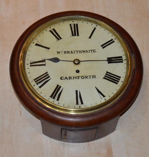 William Braithwaite Carnforth Fusee Dial Wall Clock (1 of 4)