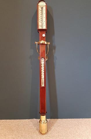 Antique Mahogany Marine Stick Barometer on Gimble (1 of 7)