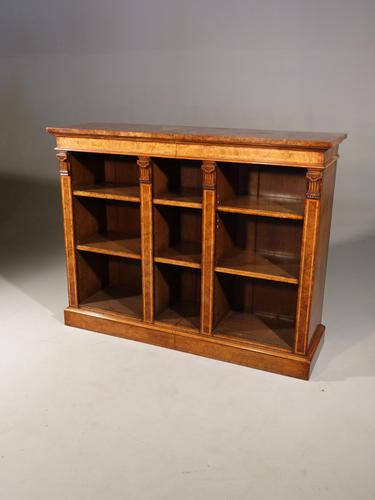 A Sophisticated Mid 19th Century Walnut Dwarf Open Bookcase (1 of 5)