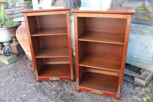 Pair of Mahogany Bookcases (1 of 9)