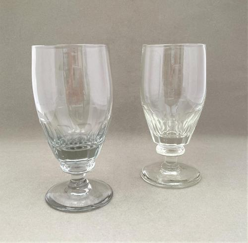 Lovely Pair of Victorian Dwarf Ale Glasses (1 of 4)