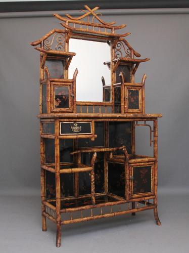 Impressive 19th Century Bamboo Cabinet (1 of 25)