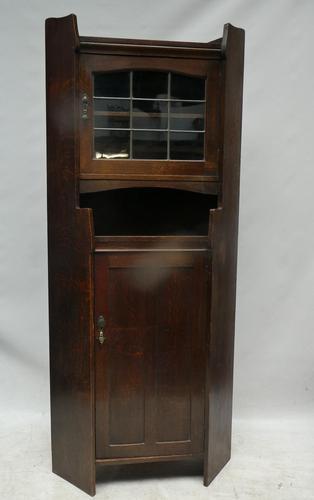 Liberty & Co Oak Corner Cabinet (1 of 9)