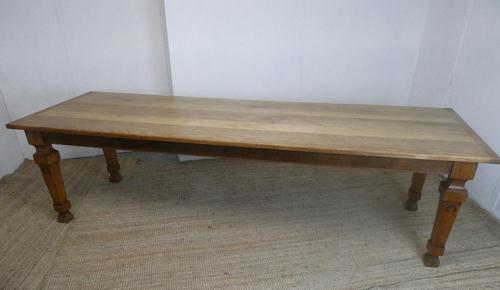 Large English 19th Century Oak Table (1 of 9)