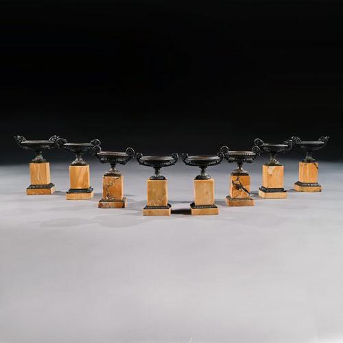 Fine Collection of Early 19th Century Grand Tour Bronze & Marble Empire Tazzas (1 of 9)