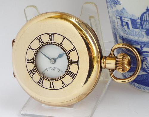 1930s Vertex Half Hunter Pocket Watch (1 of 6)