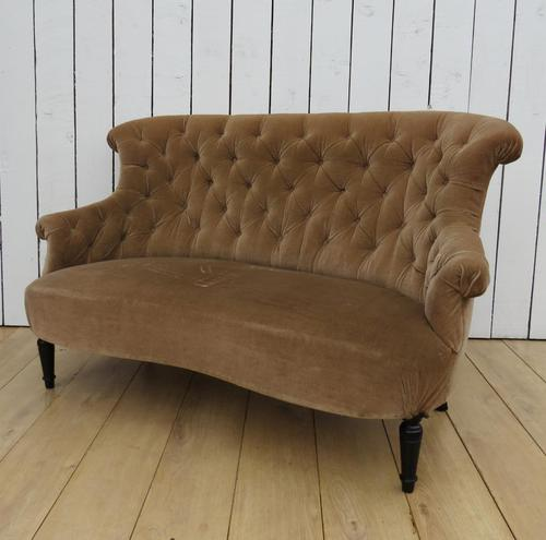 Antique French Napoleon III Button Back Sofa (1 of 9)