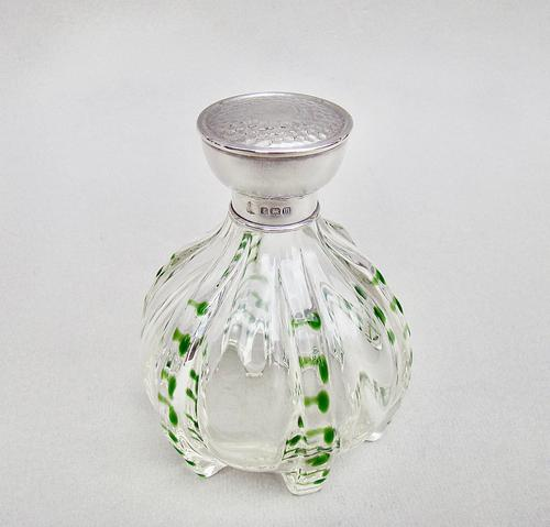 Arts & Craft Silver & Glass Scent Bottle by the Boots Company Birmingham 1911 (1 of 7)
