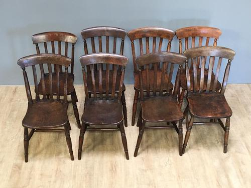 Harlequin or Near Matched Set of 8 Kitchen Chairs (1 of 7)