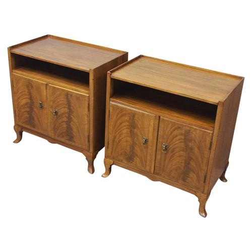 Pair of Mahogany Cabinets or Bedsides by Whytock & Reid (1 of 9)