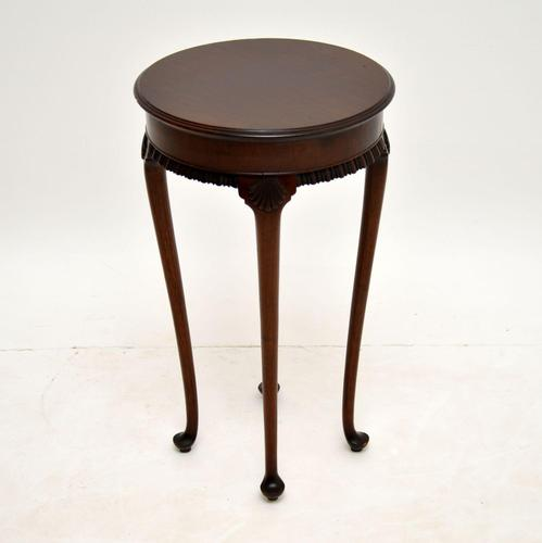 Antique Victorian  Mahogany Side Table (1 of 7)
