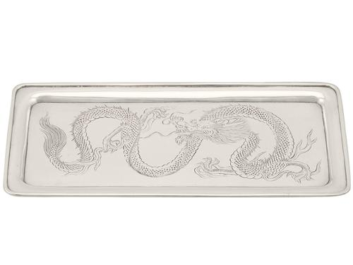 Chinese Export Silver Tray - Antique c.1890 (1 of 9)
