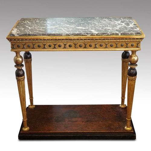 19th Century Swedish Gilt Console Table (1 of 10)