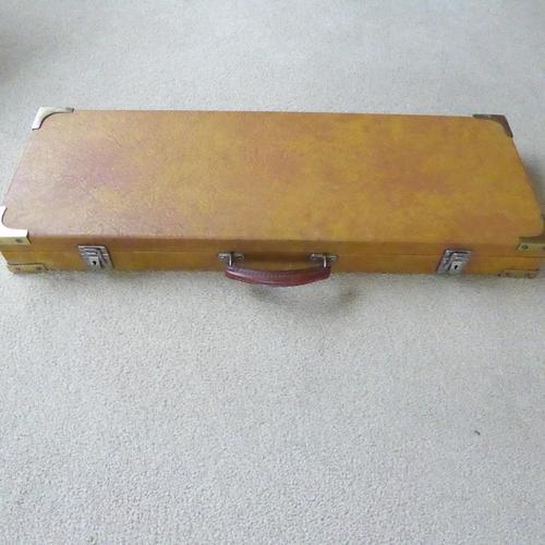 Vintage Wooden Leatherette Covered Shotgun Case (1 of 4)