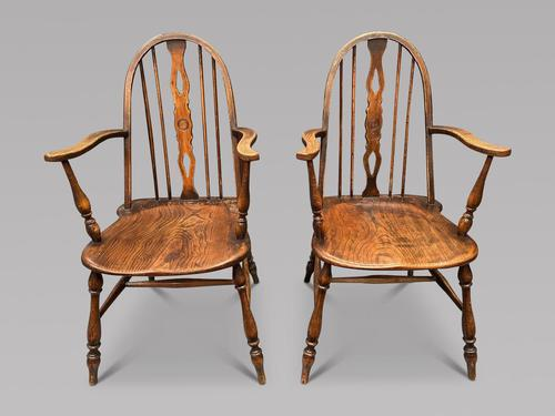 Pair of 19th Century Windsor Stick Back Chairs (1 of 3)