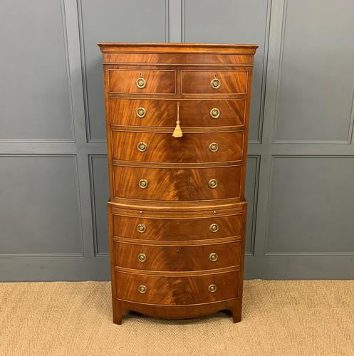 Flame Mahogany Bow Fronted Chest on Chest (1 of 14)