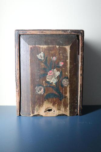 Scandinavian / Swedish 'Folk Art' Original Paint Rosmålning, Desk Timplåda / Sliding Lidded Box Gustavian, 1806 (1 of 16)