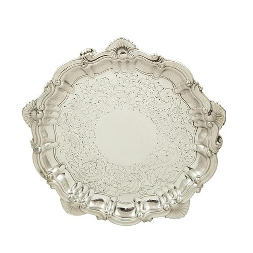 """Antique Victorian Sterling Silver 6"""" Card Tray 1891 (1 of 9)"""