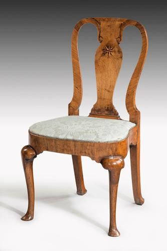 Queen Anne Period Walnut Single Chair (1 of 5)