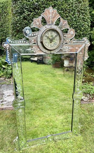 Venetian Mirror with Clock (1 of 6)