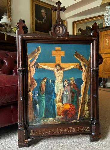 Superb 19th Century Old Master Biblical Christ Oil Portrait Painting - Gothic Oak Frame (1 of 17)