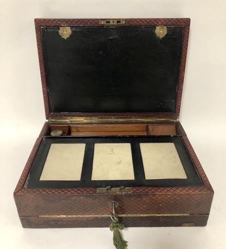 Antique Victorian Leather Writing Document Box (1 of 19)