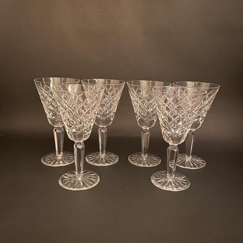 Six Waterford 'Tyrone' Claret Glasses (1 of 2)