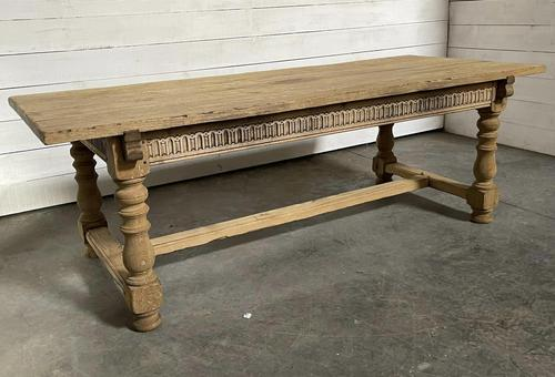Superb Quality Large Bleached Oak Farmhouse Dining Table (1 of 32)