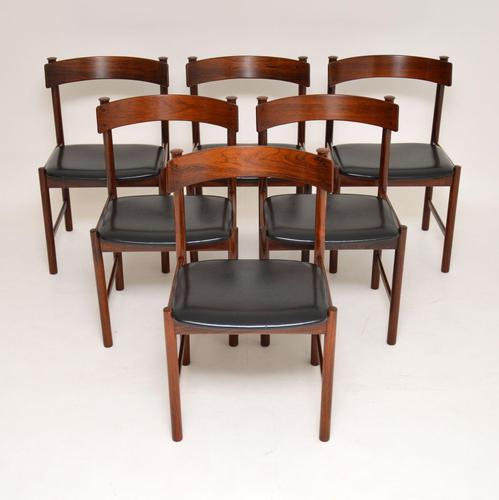 1960's Danish Vintage Rosewood Dining Chairs – Set of 6 (1 of 15)